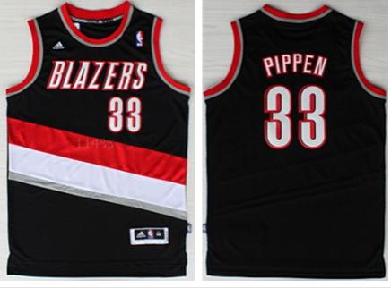 Blazers 33 Pippen Black New Revolution 30 Jerseys