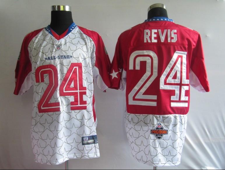 Jets 24 Revis White 2010 Pro Bowl Jerseys