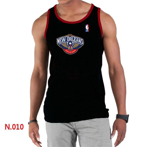 New Orleans Pelicans Big & Tall Primary Logo Men Black Tank Top