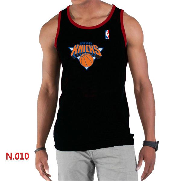 New York Knicks Big & Tall Primary Logo Men Black Tank Top