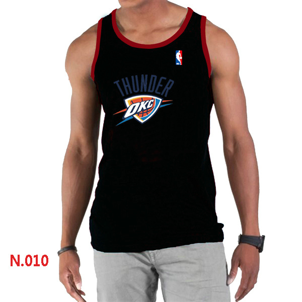 Oklahoma City Thunder Big & Tall Primary Logo Men Black Tank Top