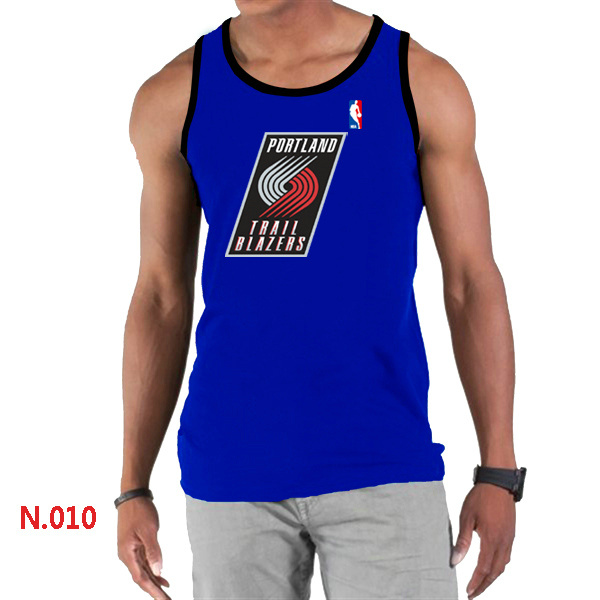 Portland Trail Blazers Big & Tall Primary Logo Men Blue Tank Top