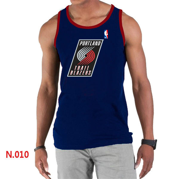 Portland Trail Blazers Big & Tall Primary Logo Men D.Blue Tank Top