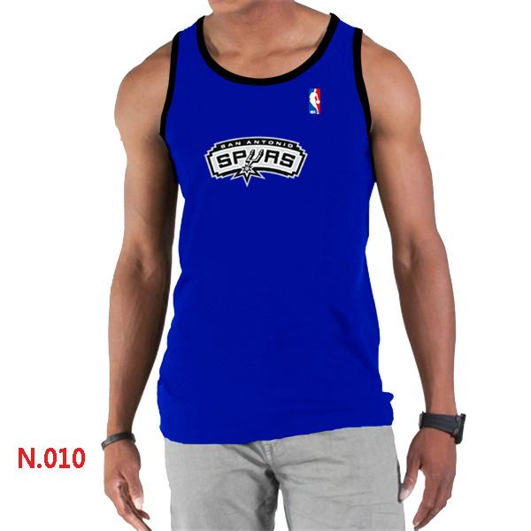 San Antonio Spurs Big & Tall Primary Logo Men Blue Tank Top