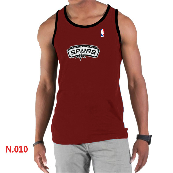 San Antonio Spurs Big & Tall Primary Logo Men Red Tank Top