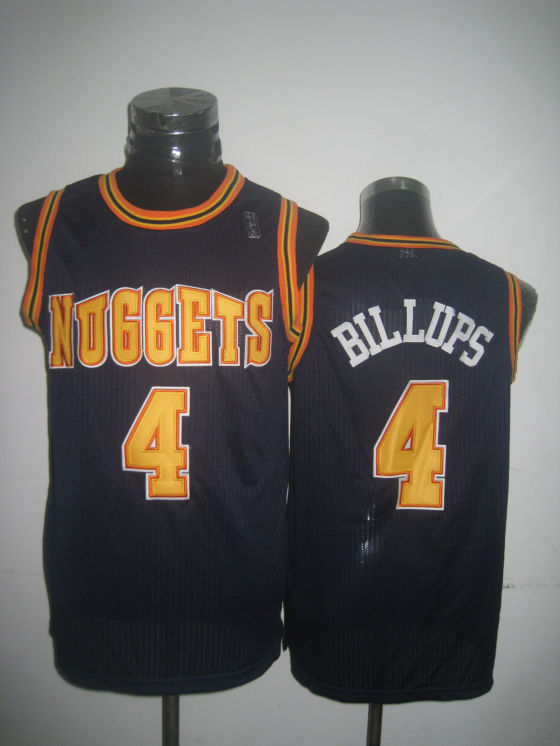 Nuggets 4 Billups Navy Jerseys