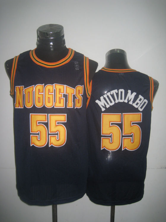 Nuggets 55 Mutombo Navy New Revolution 30 Jerseys