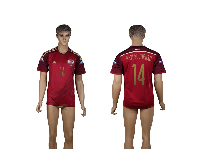 Russia 14 Pavlyuchenko 2014 World Cup Home Thailand Jersey