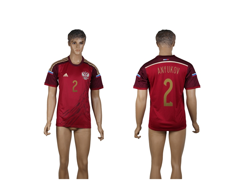 Russia 2 Anyukov 2014 World Cup Home Thailand Jersey