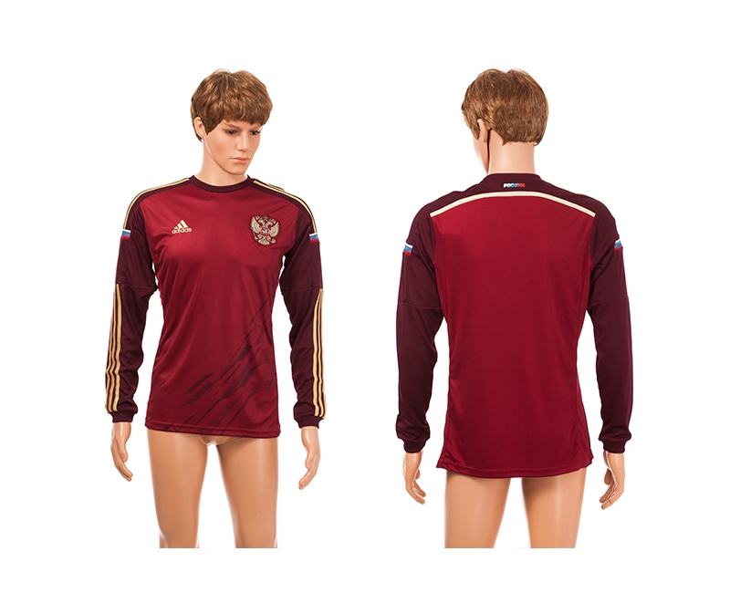Russia 2014 World Cup Home Long Sleeve Thailand Jerseys