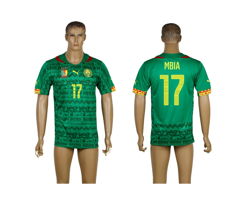 Cameroon 17 Mbia 2014 World Cup Home Thailand Jerseys