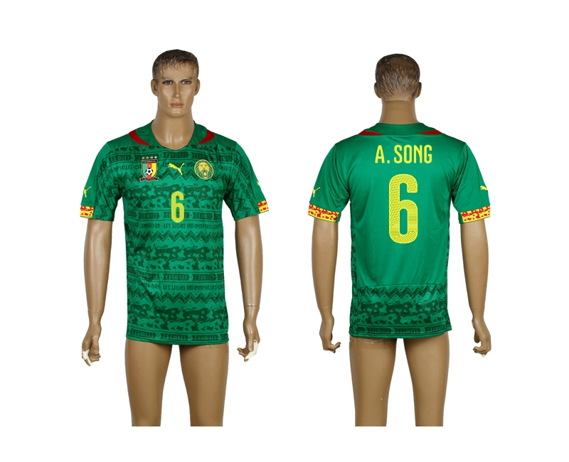 Cameroon 6 A.Song 2014 World Cup Home Thailand Jerseys