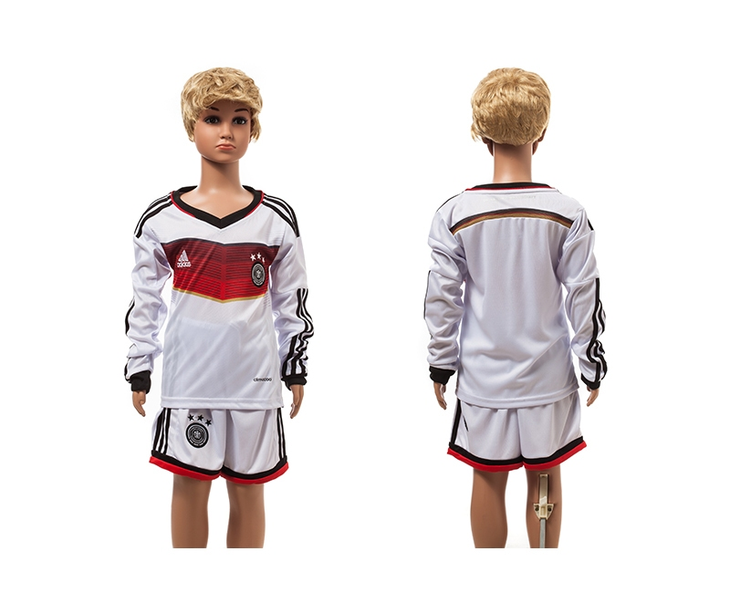 Germany 2014 World Cup Home Long Sleeve Youth Jerseys