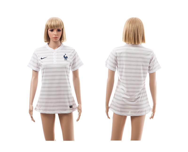 France 2014 World Cup Away Soccer Women Jerseys