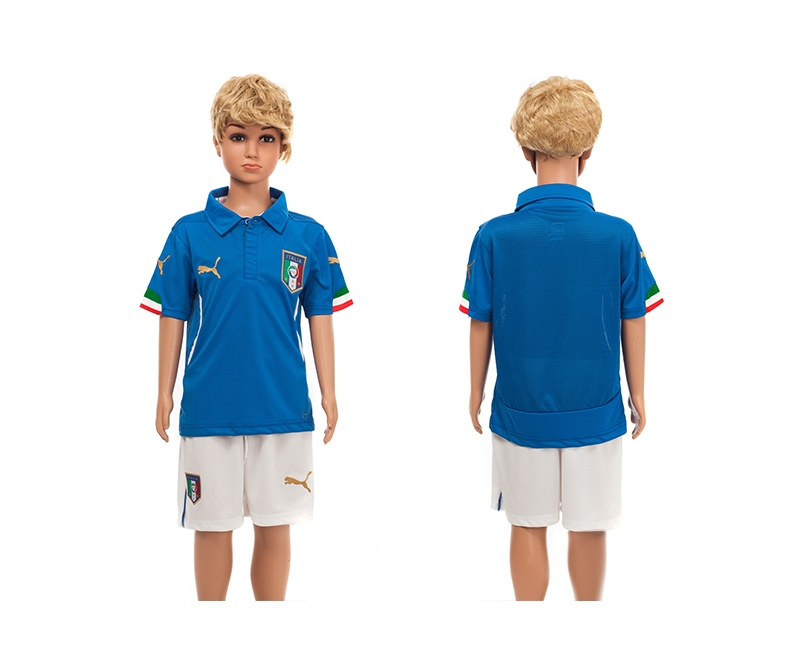 Italy 2014 World Cup Home Youth Jerseys