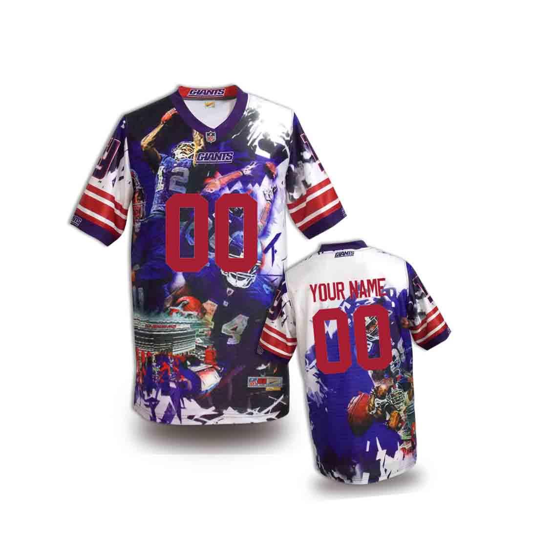 Nike Giants Customized Fashion Stitched Youth Jerseys03
