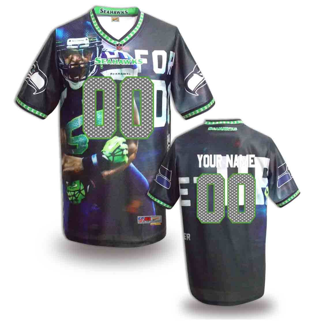 Nike Seahawks Customized Fashion Stitched Jerseys05