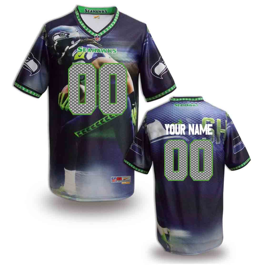 Nike Seahawks Customized Fashion Stitched Jerseys06