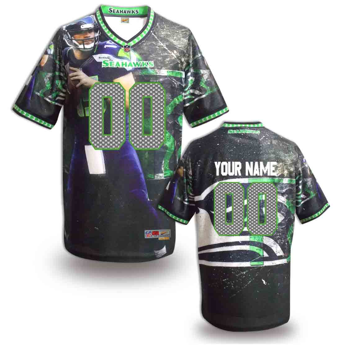 Nike Seahawks Customized Fashion Stitched Jerseys08