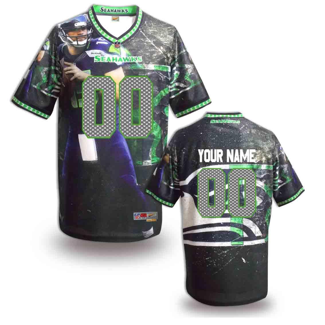 Nike Seahawks Customized Fashion Stitched Jerseys08