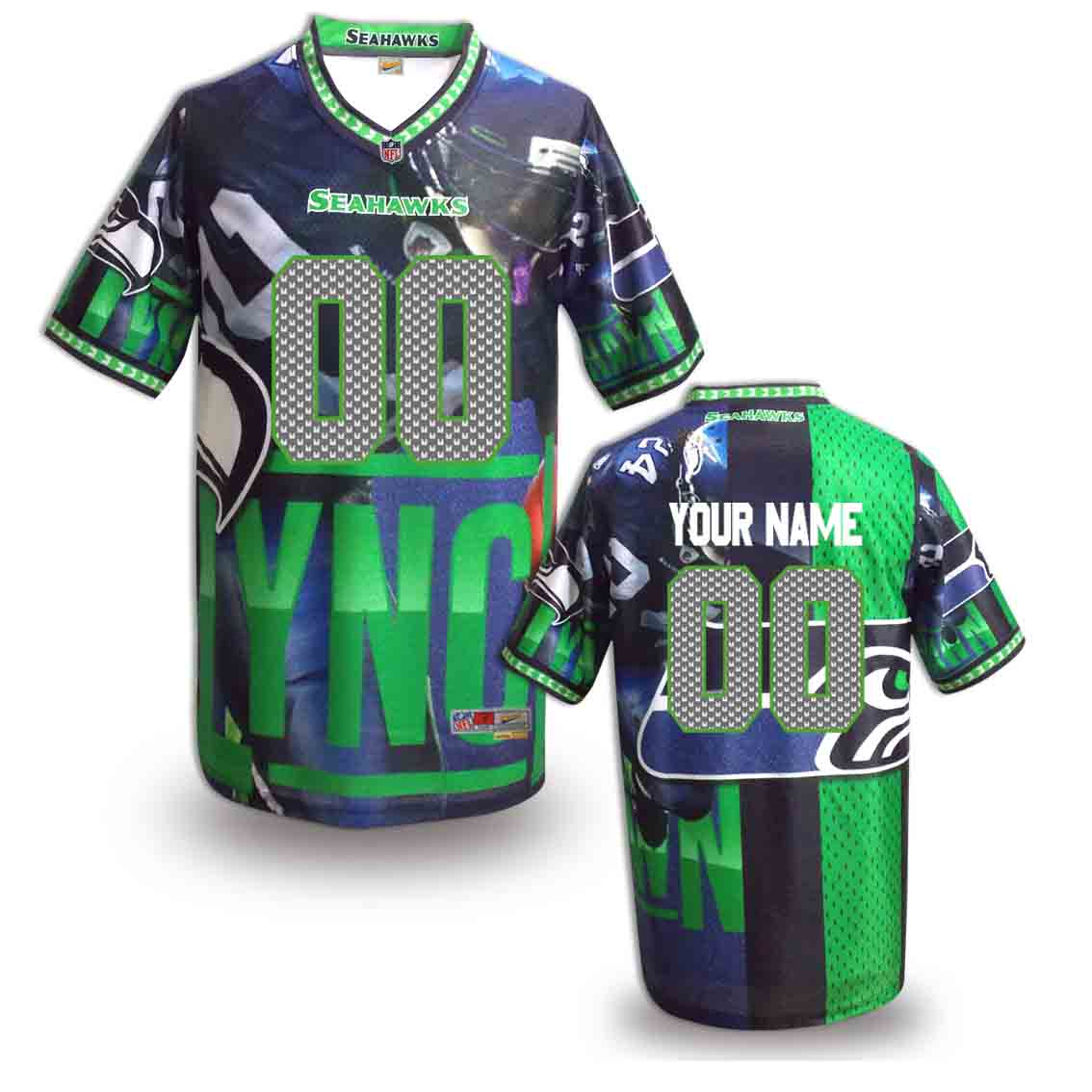 Nike Seahawks Customized Fashion Stitched Jerseys09