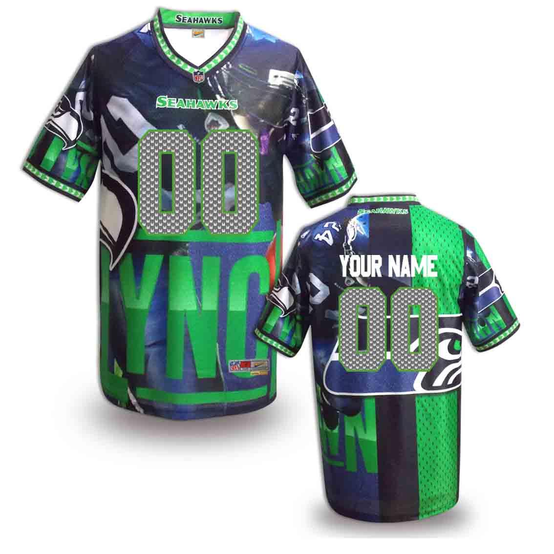 Nike Seahawks Customized Fashion Stitched Jerseys09