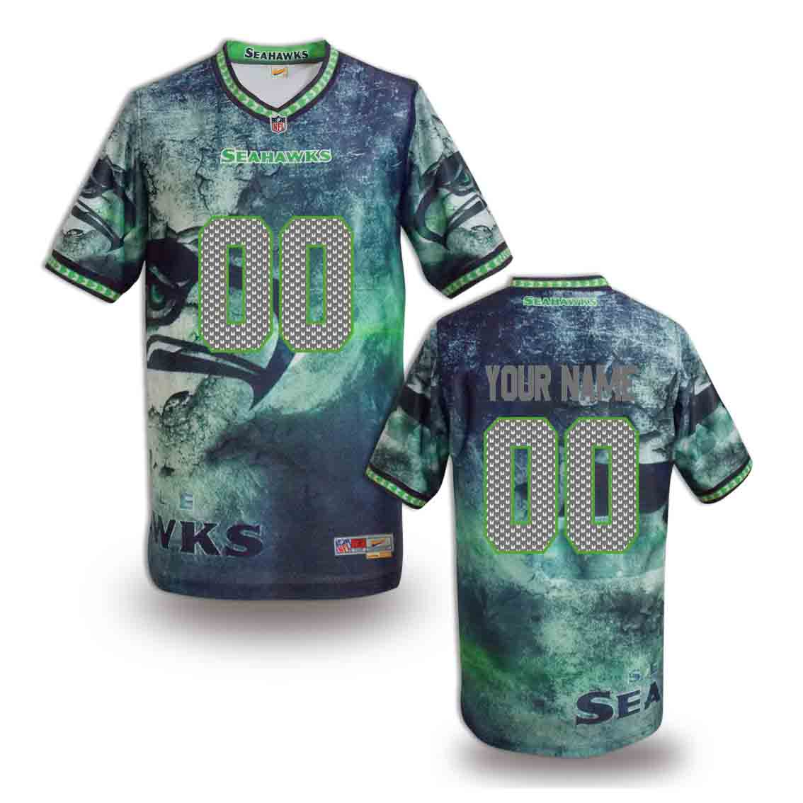 Nike Seahawks Customized Fashion Stitched Jerseys13