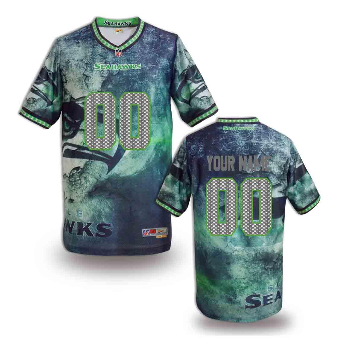 Nike Seahawks Customized Fashion Stitched Jerseys13
