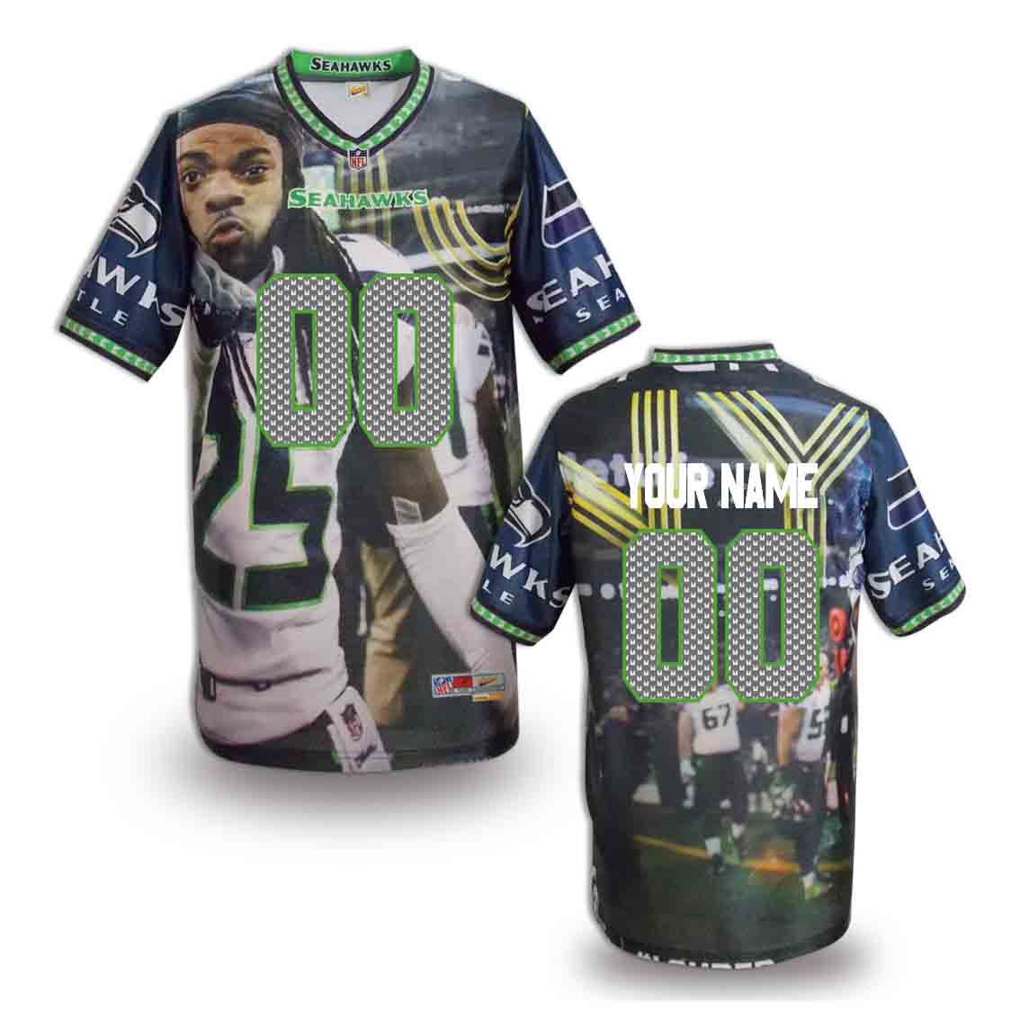Nike Seahawks Customized Fashion Stitched Jerseys14