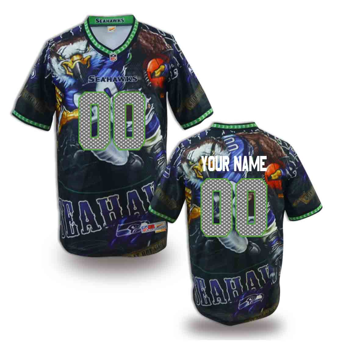 Nike Seahawks Customized Fashion Stitched Jerseys16