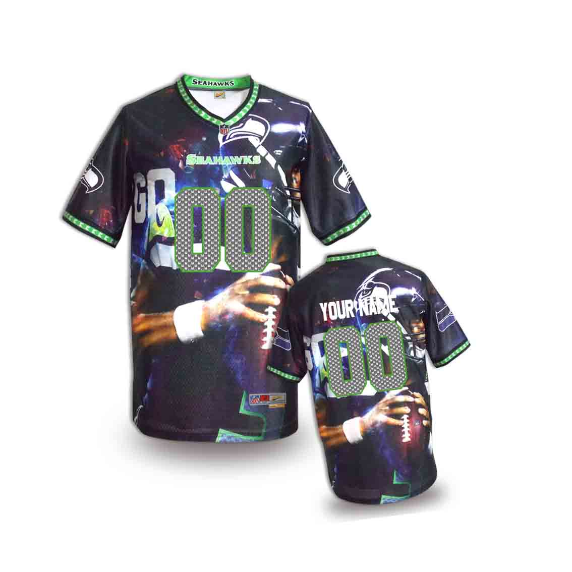 Nike Seahawks Customized Fashion Stitched Youth Jerseys07