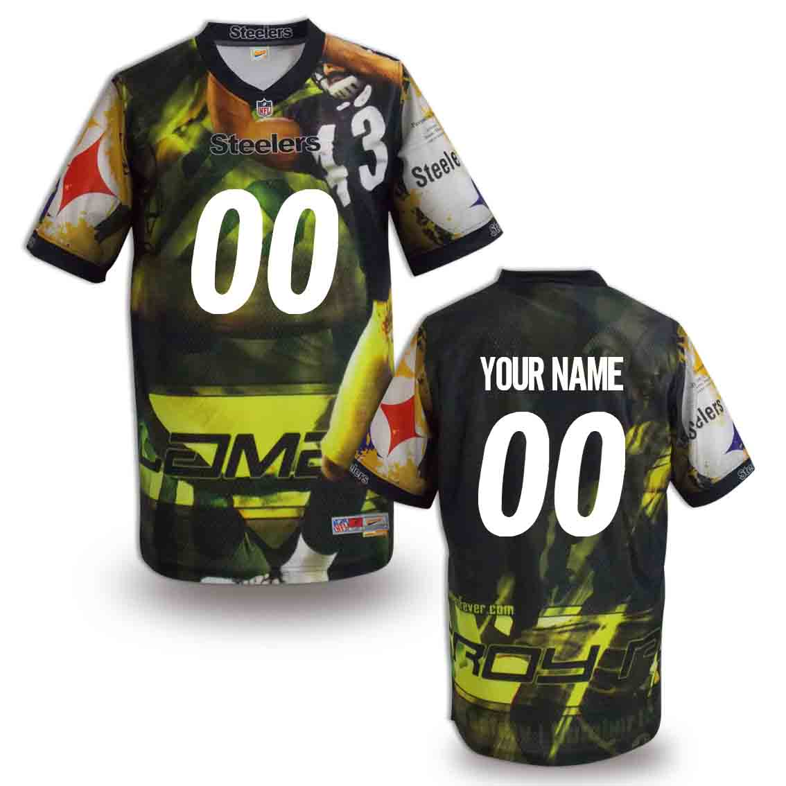 Nike Steelers Customized Fashion Stitched Jerseys01