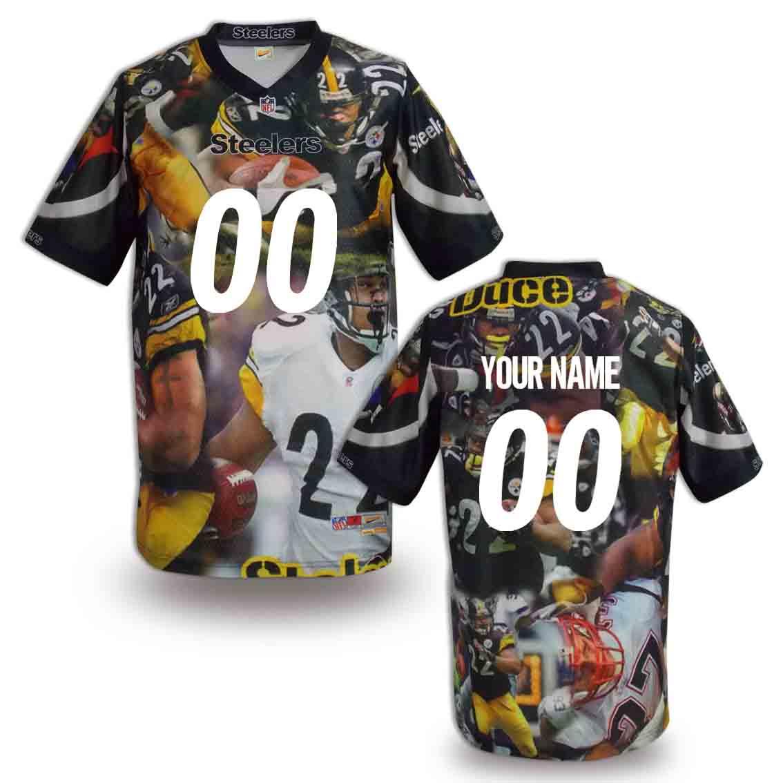 Nike Steelers Customized Fashion Stitched Jerseys04