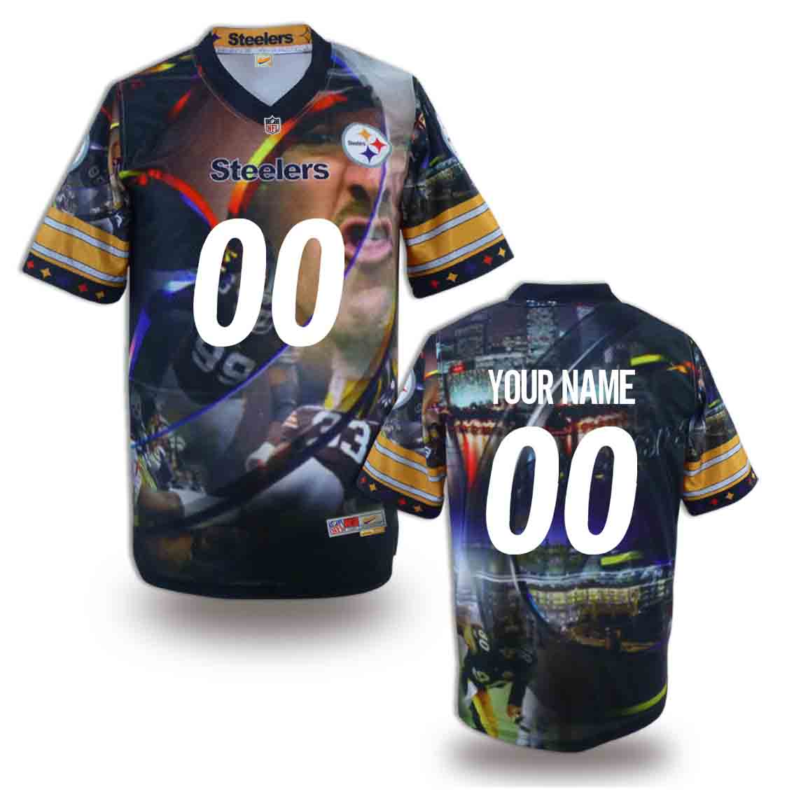 Nike Steelers Customized Fashion Stitched Jerseys05