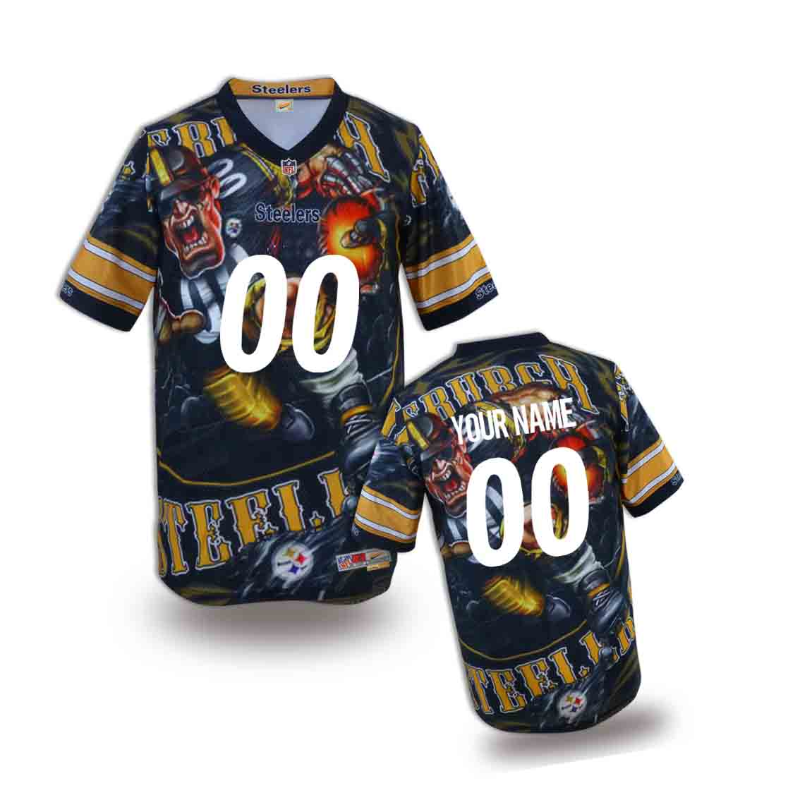 Nike Steelers Customized Fashion Stitched Youth Jerseys01
