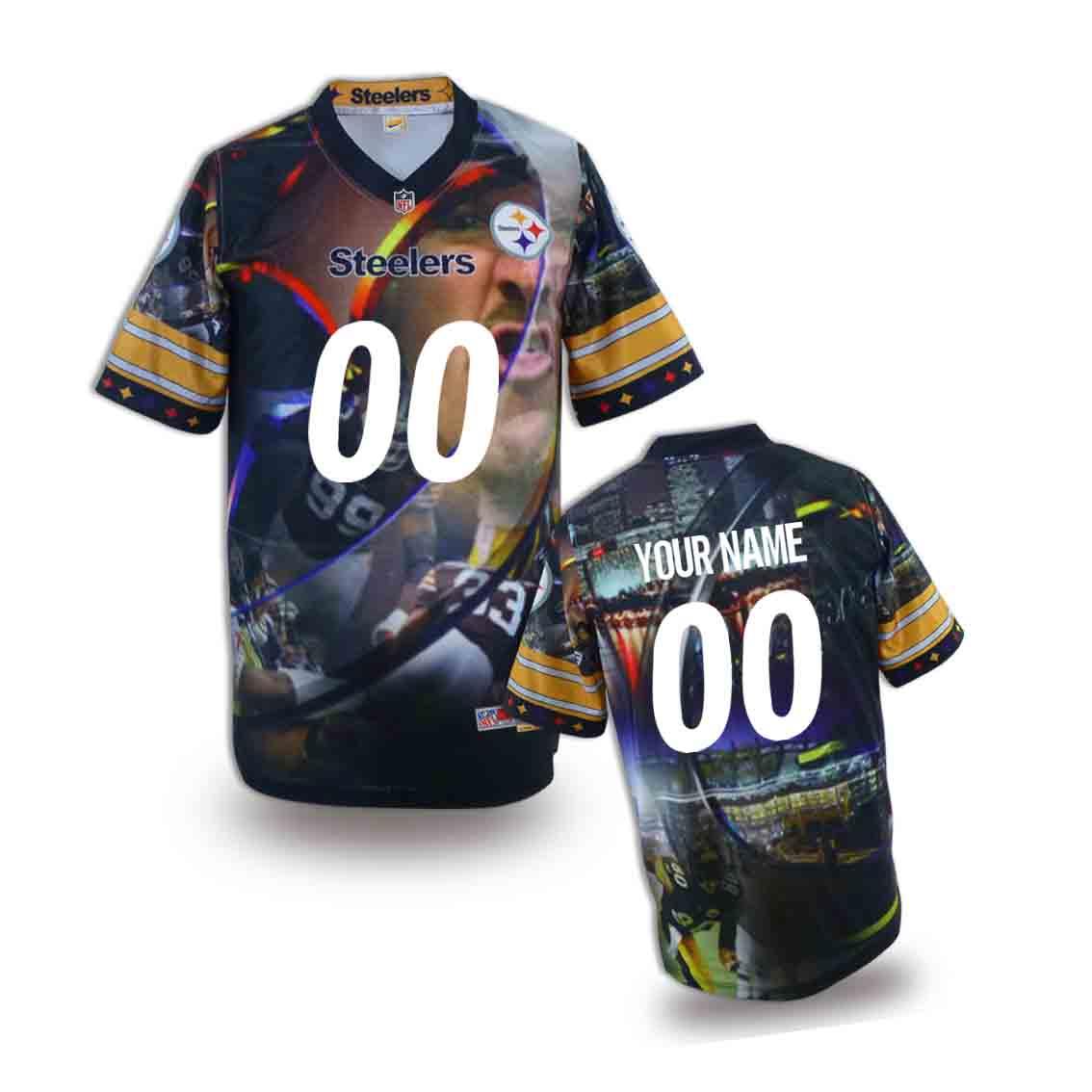Nike Steelers Customized Fashion Stitched Youth Jerseys02