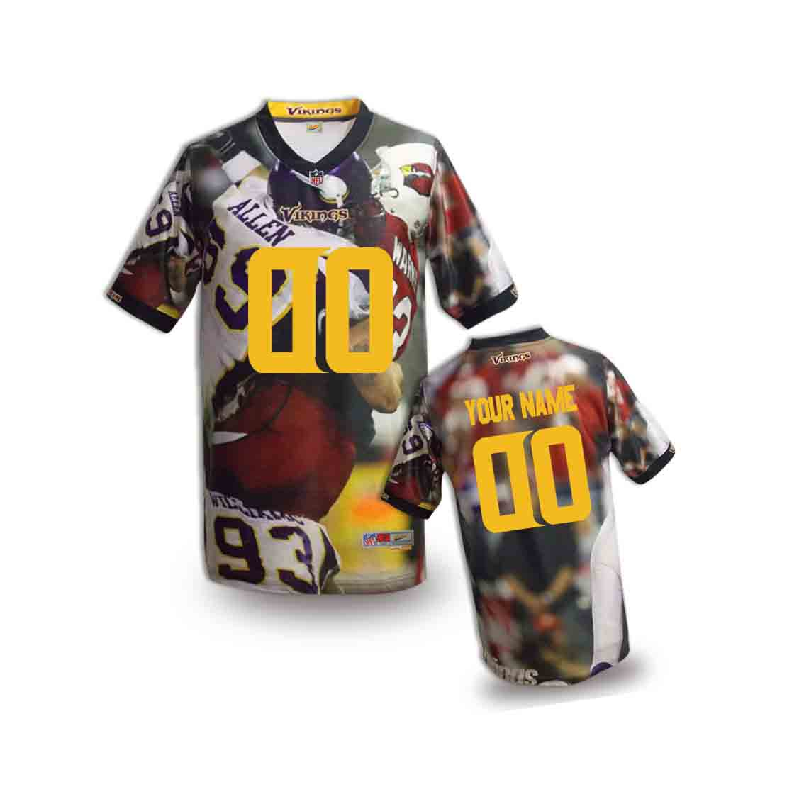 Nike Vikings Customized Fashion Stitched Youth Jerseys07