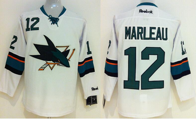 Sharks 12 Marleau White New Jerseys