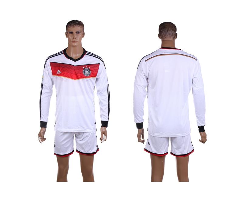 Germany 2014 World Cup Home Long Sleeve Jerseys