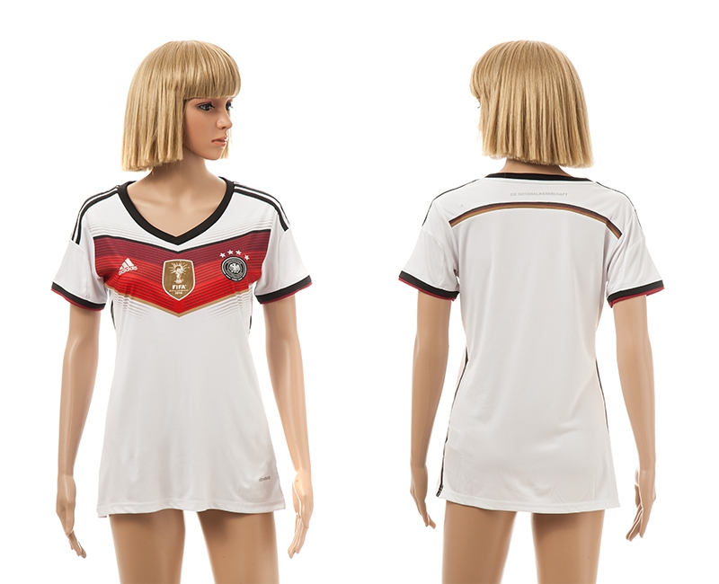 Germany 4-Star 2014 World Cup Champions Home Women Jerseys