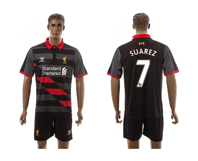 2014-15 Liverpool 7 Suarez Third Away Jerseys