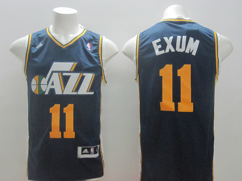 Jazz 11 Exum Navy Blue New Revolution 30 Jerseys