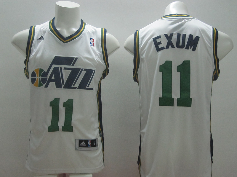 Jazz 11 Exum White New Revolution 30 Jerseys