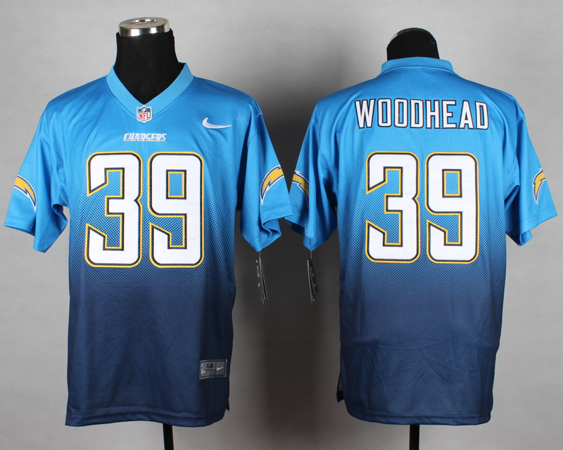 Nike Chargers 39 Woodhead Blue Drift Fashion II Elite Jerseys