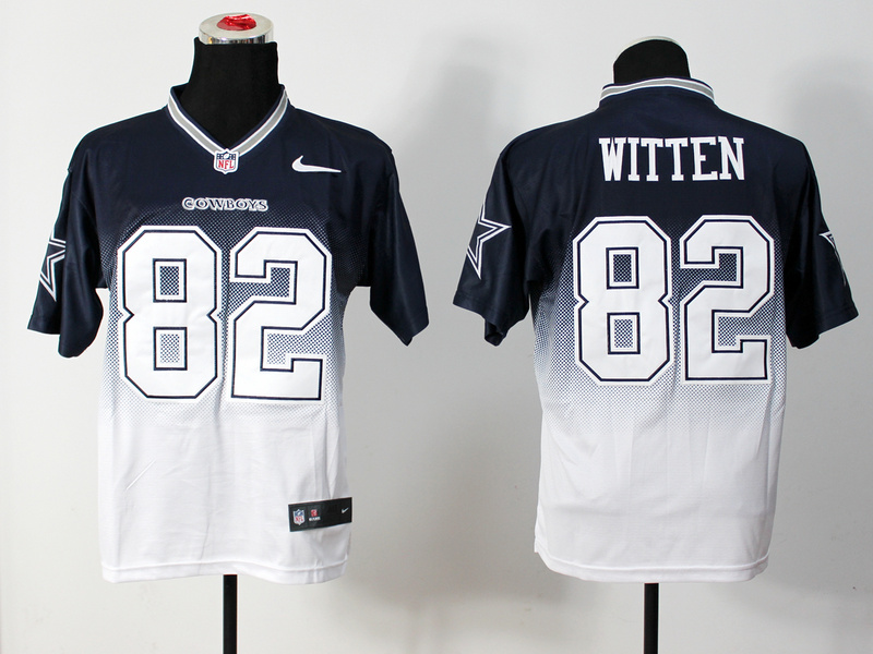 Nike Cowboys 82 Witten Blue And White Drift Fashion II Elite Jerseys