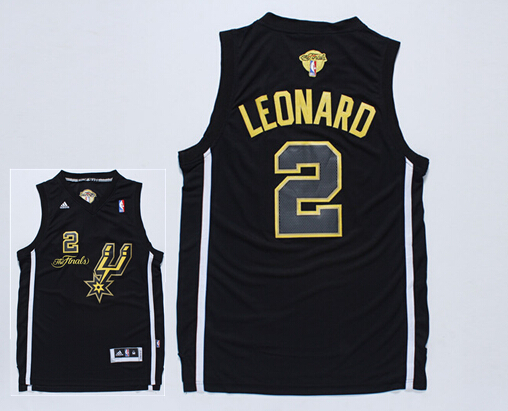 Spurs 2 Leonard Black 2014 NBA Finals Jerseys