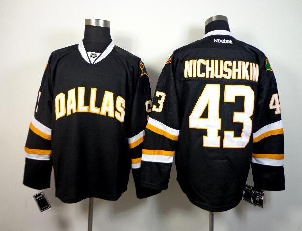 Stars 43 Nichushkin Black Jerseys