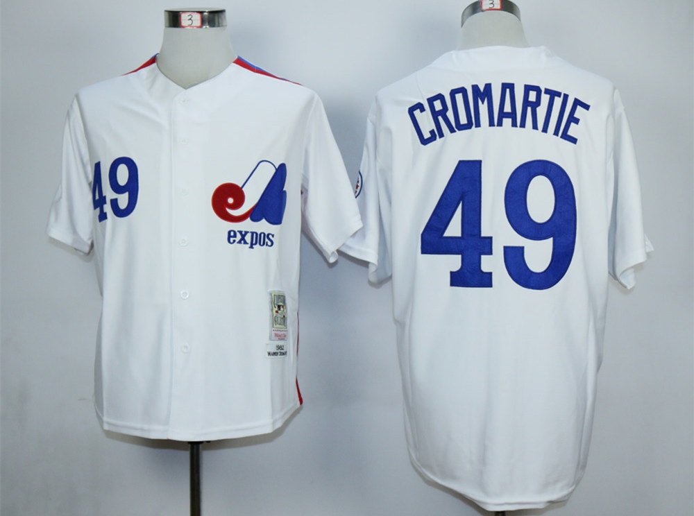Expos 49 Warren Cromartie White Throwback Jersey