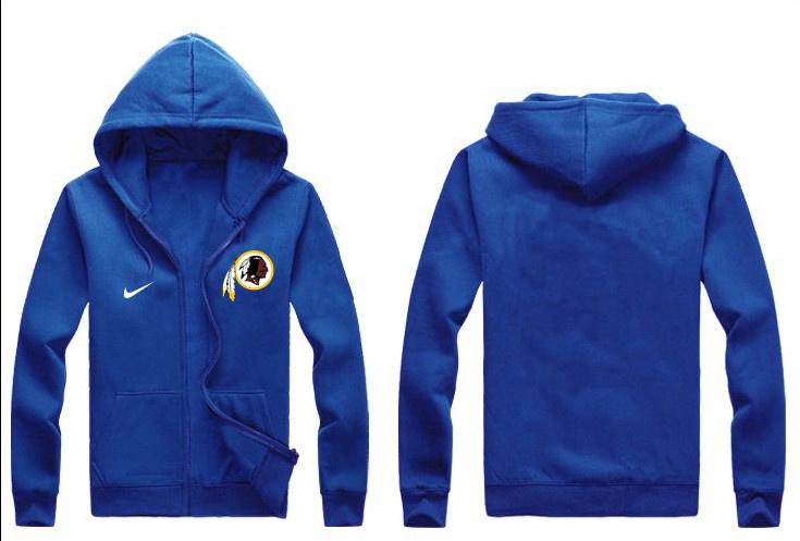 Nike Redskins Blue Full Zip Hoodie