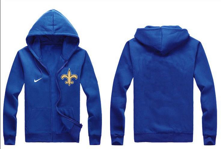 Nike Saints Blue Full Zip Hoodie
